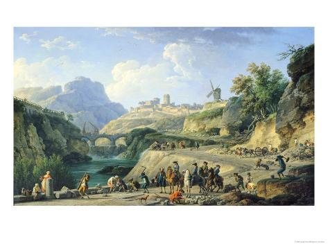 The Construction of a Road, 1774 Giclee Print