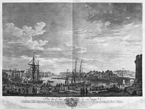 View of the Port of Dieppe, Series of 'Les Ports De France' Giclee Print
