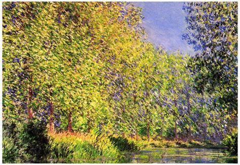 Claude Monet A Bend of the Epte Giverny Art Print Poster Poster