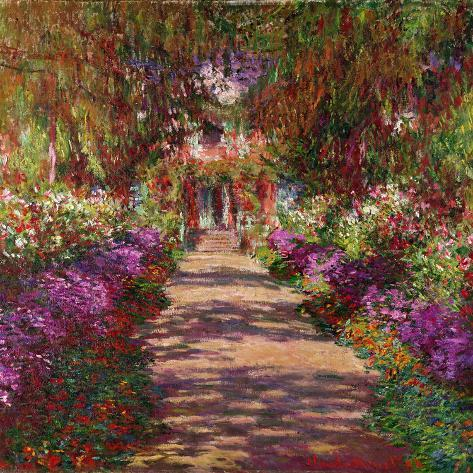 A Pathway in Monet\'s Garden, Giverny, 1902 Giclee Print by Claude ...
