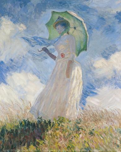 A Woman with a Sunshade Art Print