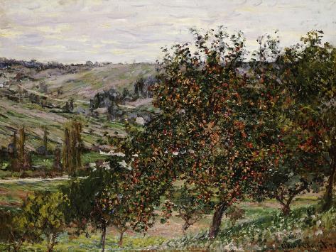 Apple Trees Near Vetheuil Giclee Print