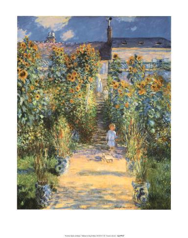 Artist's Garden at Vetheuil Art Print