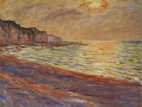 Beach at Pourville, Sunset, 1882 Impressão giclée