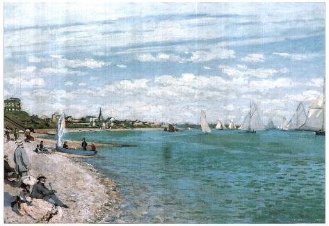 Claude Monet Beach Of Sainte Adresse Art Print POSTER Poster