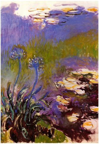 Claude Monet Blue Tuberosen Art Print Poster Poster