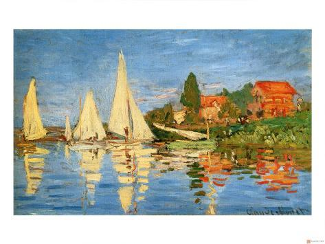 Boating at Argenteuil Giclee Print