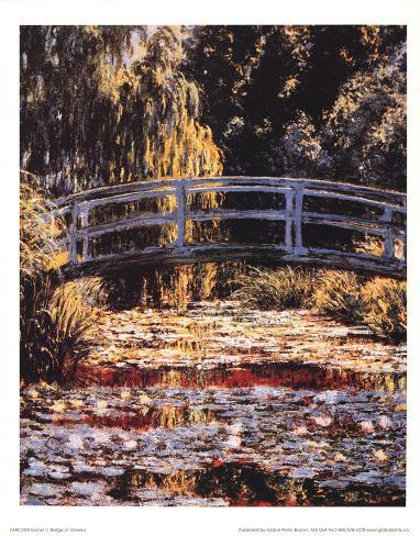 Claude Monet (Bridge at Giverny) Art Poster Print Masterprint