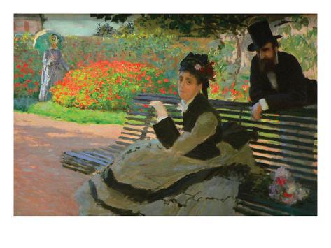 Camille Monet on a Garden Bench Art Print