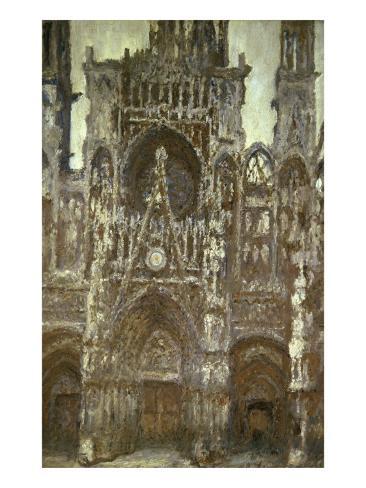 Cathedrale de Rouen-Harmonie Brune Giclee Print