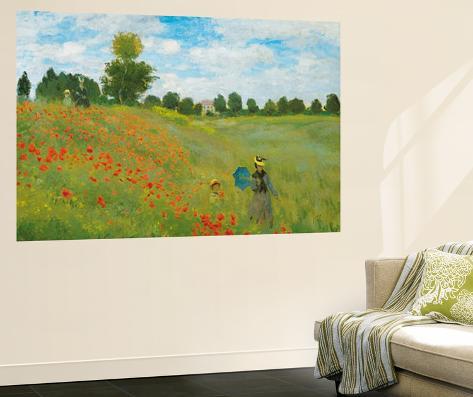 Claude Monet Champs de Coquelicots Mini Mural Huge Poster Art ...