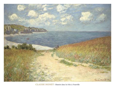 Chemin dans les bles a Pourville, 1882 Art Print