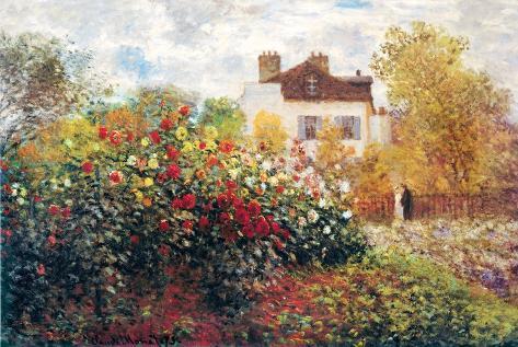 Claude Monet, El jardín del artista, arte lámina póster Póster