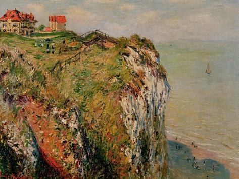 Cliff at Dieppe, 1882 Giclee Print