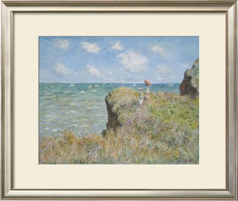 Cliff Walk at Pourville, 1882 Framed Art Print