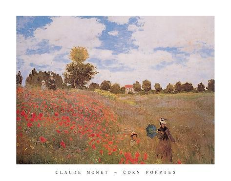 Corn Poppies (Les Coquelicots), 1873 Poster