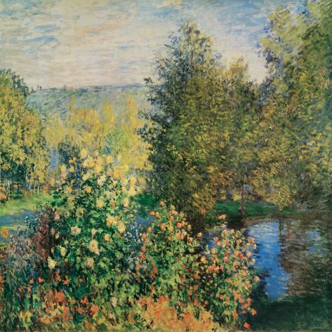 Corner of the Garden at Montgeron, c.1876 Reproducción de lámina sobre lienzo