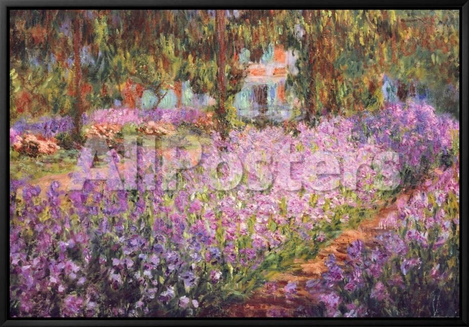 El jardín del artista en Giverny, ca. 1900 Lienzo enmarcado por ...