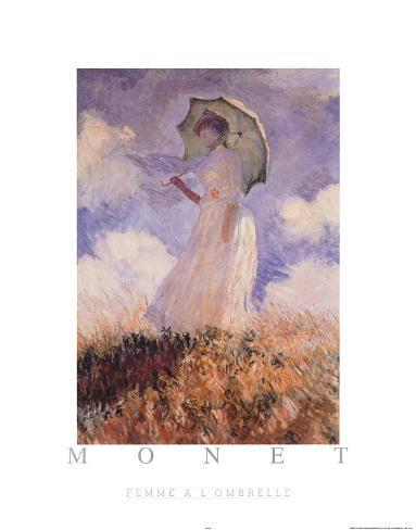 Femme A L'Ombrelle Poster