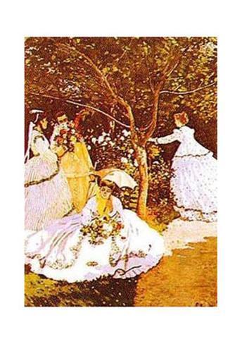 Femmes Dans un Jardin Art Print