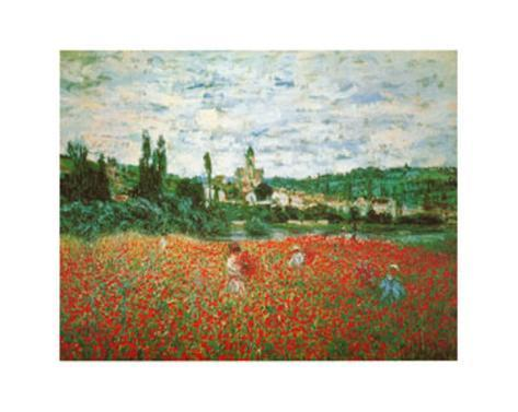 Field of Poppies at Giverny Art Print