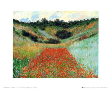 Field of Poppies at Vetheuil Art Print