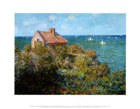 Fisherman's Cottage on the Cliffs at Var Art Print
