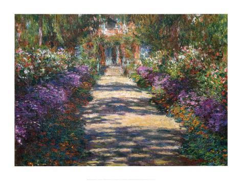 Garden at Giverny Art Print