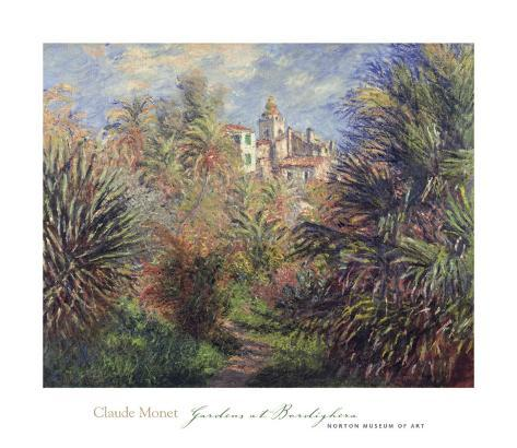 Gardens at Bordighera, 1884 Art Print