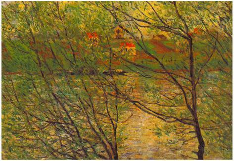 Claude Monet His Bank the Ile de la Grande Jatte Art Print Poster Poster