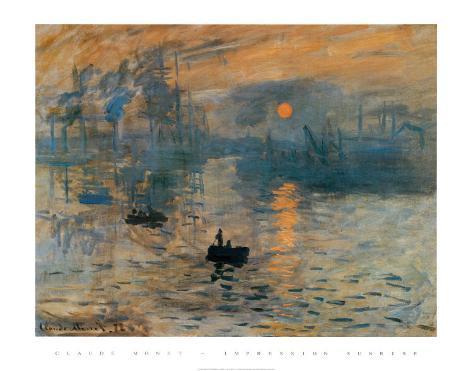 Impressão, nascer do sol, cerca de 1872 Impressão artística