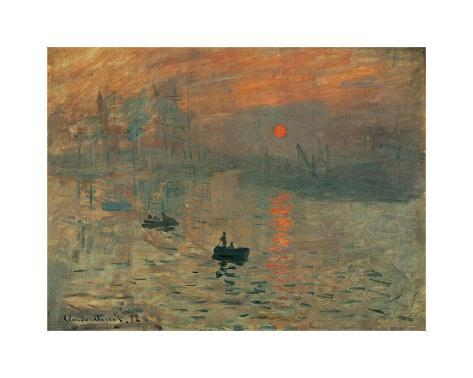 Impression, Sunrise, c.1872 Giclee Print