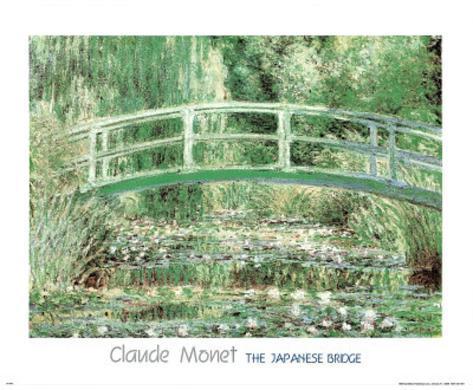 Claude Monet (Japanese Bridge at Giverny) Art Print Poster Poster
