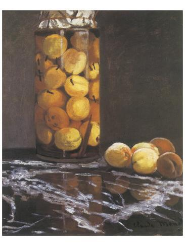 Jar of Peaches Premium Giclee Print