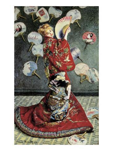 La Japonaise (Camille Monet in Japanese Costume) Art Print
