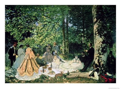 Le Dejeuner Sur L'Herbe, 1866 Giclee Print
