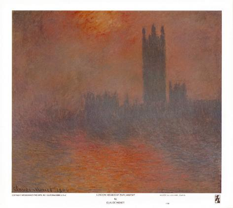 London Houses of Parliament Art Print