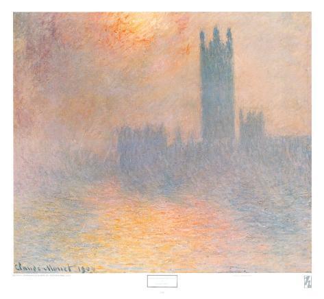London Houses of Parliament Art Print