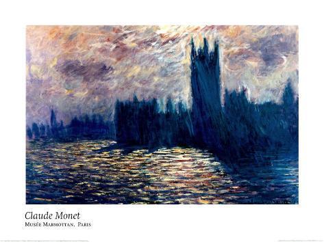 Londres de Parlement Art Print