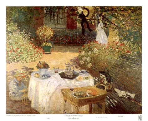 Luncheon in the Garden Art Print