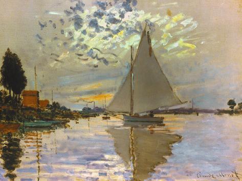 Monet: Sailboat Stampa giclée