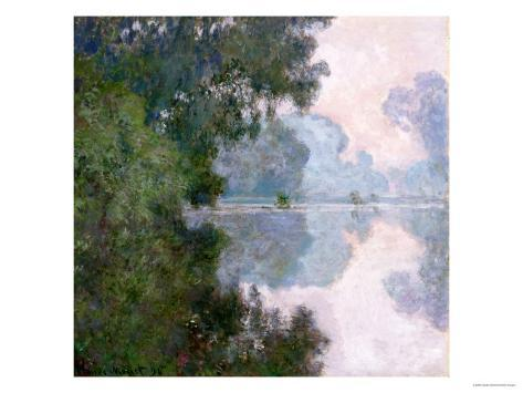 Morning on the Seine, Near Giverny, 1896 Giclee Print