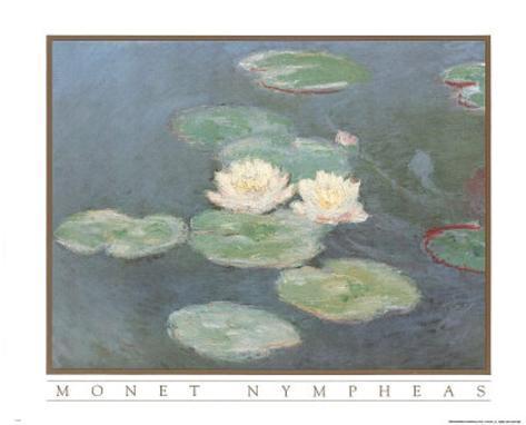 Claude Monet Nympheas Art Print POSTER Water Lilypads Poster