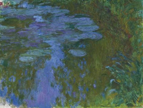 Nympheas, C. 1914-1917 Lámina giclée