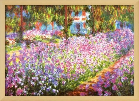 O Jardim do Artista em Giverny, c.1900 Impressão artística com moldura laminada