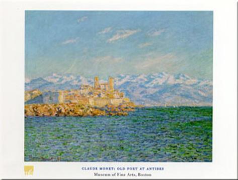 Old Fort At Antibes Impressão artística