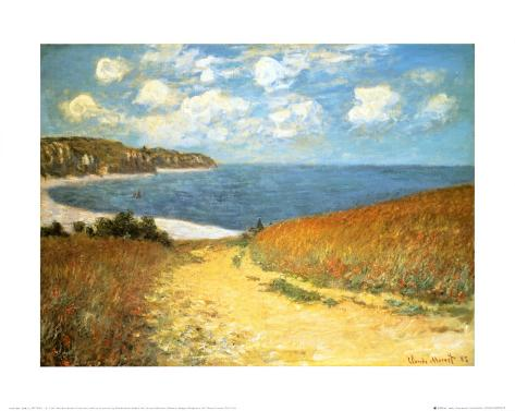 Path Through the Corn at Pourville, 1882 Art Print