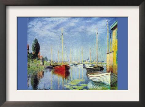 Pleasure Boats At Argenteuil Framed Art Print