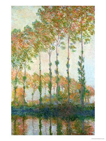 Poplars on the Banks of the Epte, Autumn, 1891 Giclee Print