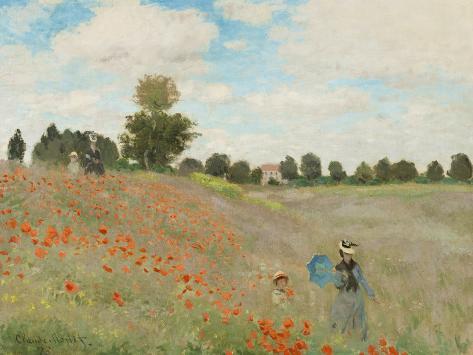 Poppy Field, Near Argenteuil, c.1873 Lámina